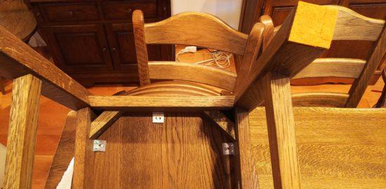 椅子脚の裏